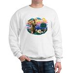 St Francis #2/Pomeranians(3) Sweatshirt