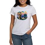 St Francis #2/Pomeranians(3) Women's T-Shirt