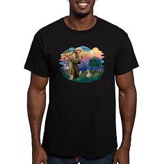 St Francis #2/ PBGV #4 Men's Fitted T-Shirt (dark)