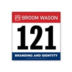 United States Bib Number 121 Sticker