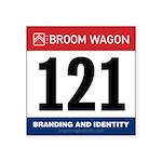 United States Bib Number 121 Sticker