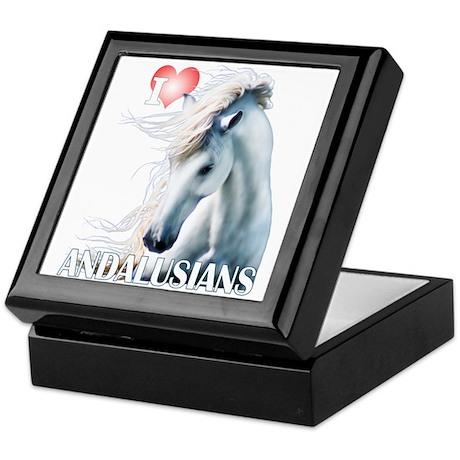I Love Andalusians Keepsake Box