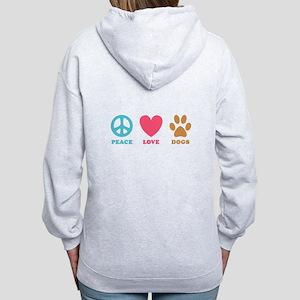 Peace Love Dogs Women's Zip Hoodie
