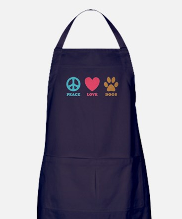 Peace Love Dogs Apron (dark)