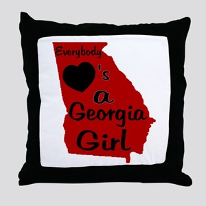 Everybody Loves a GA Girl (RB Throw Pillow