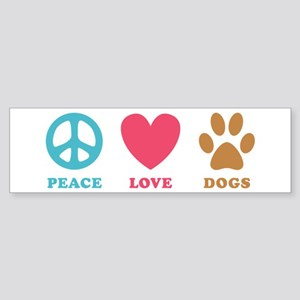 Peace Love Dogs Sticker (Bumper)