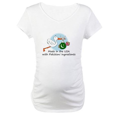 Stork Baby Pakistan USA Maternity T-Shirt