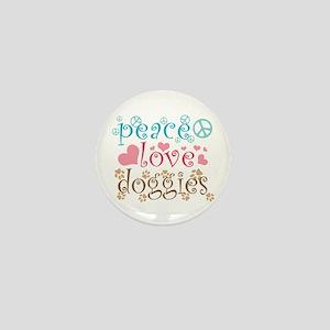 Peace Love Doggies Mini Button