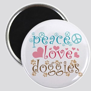Peace Love Doggies Magnet