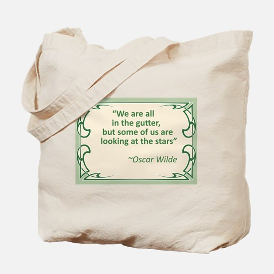 Wilde on Gutters and Stars Tote Bag