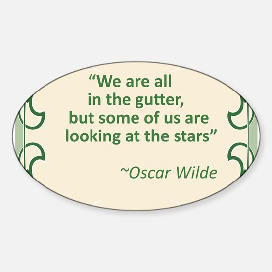 Wilde on Gutters and Stars Sticker (Oval)