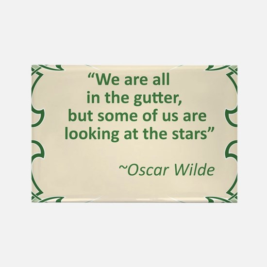 Wilde on Gutters and Stars Rectangle Magnet