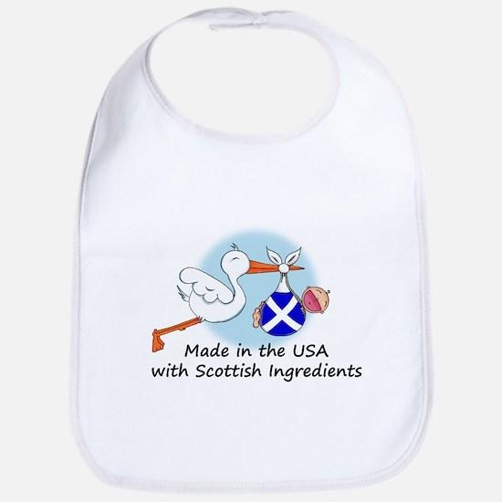 Stork Baby Scotland USA Bib