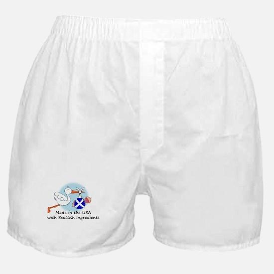 Stork Baby Scotland USA Boxer Shorts