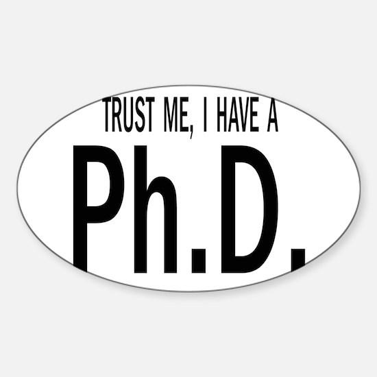 Cute Doctorate education Sticker (Oval)