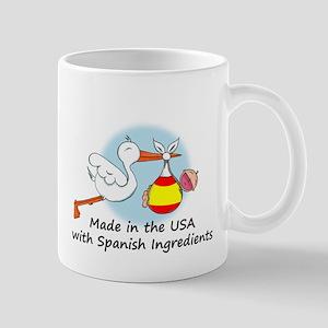 Stork Baby Spain USA Mug