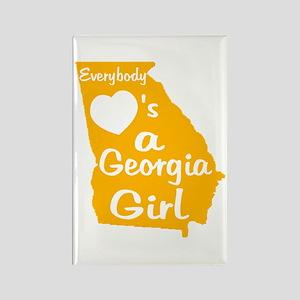 Everybody Loves a GA Girl (GW Rectangle Magnet