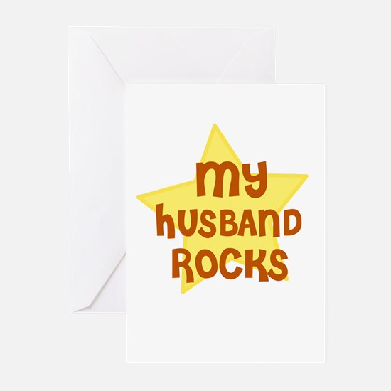 MY HUSBAND ROCKS Greeting Cards (Pk of 10)