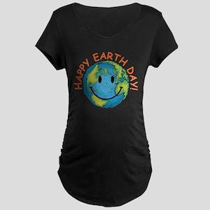 Happy Earth Day Maternity Dark T-Shirt