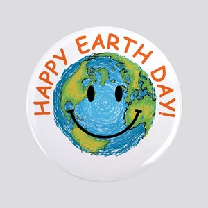"""Happy Earth Day 3.5"""" Button"""