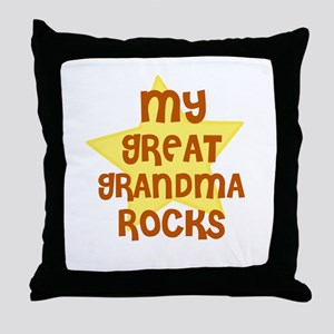 MY GREAT GRANDMA ROCKS Throw Pillow