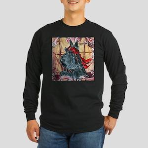 a pirate button Long Sleeve T-Shirt