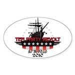 Tea Party Revolt 2010 Sticker (Oval)