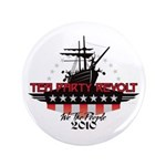 "Tea Party Revolt 2010 3.5"" Button (100 pack)"