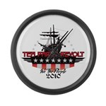 Tea Party Revolt 2010 Large Wall Clock