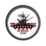 Tea Party Revolt 2010 Wall Clock