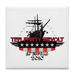 Tea Party Revolt 2010 Tile Coaster