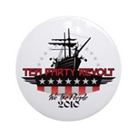 Tea Party Revolt 2010 Ornament (Round)