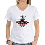 Tea Party Revolt 2010 Women's V-Neck T-Shirt