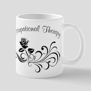 Rose Scroll Design Mug