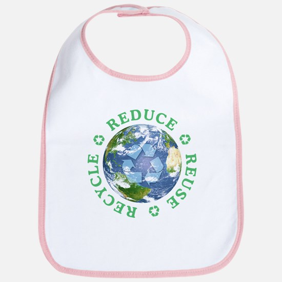 Reduce Reuse Recycle [globe] Bib