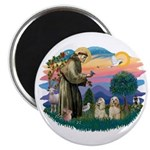 St Francis #2/ Cockers(2 buff) Magnet