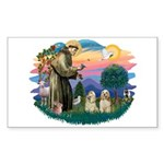 St Francis #2/ Cockers(2 buff) Sticker (Rectangle