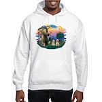 St Francis #2/ Cockers(2 buff) Hooded Sweatshirt