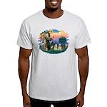 St Francis #2/ Cockers(2 buff) Light T-Shirt