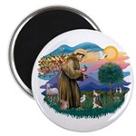 St Francis #2/ C Crested #1 Magnet