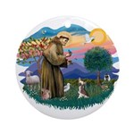 St Francis #2/ C Crested #1 Ornament (Round)