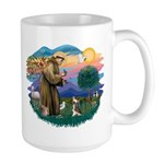 St Francis #2/ C Crested #1 Large Mug
