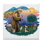 St Francis #2/ C Crested #1 Tile Coaster