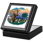 St Francis #2/ C Crested #1 Keepsake Box