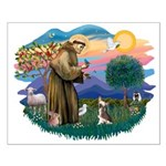 St Francis #2/ C Crested #1 Small Poster