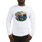 St Francis #2/ C Crested #1 Long Sleeve T-Shirt