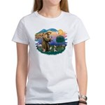 St Francis #2/ C Crested #1 Women's T-Shirt