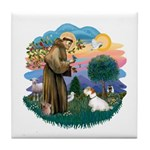 St Francis #2/ Sealyham T Tile Coaster