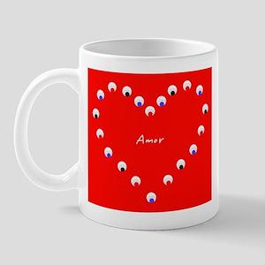 Amor Dia del Carino Valentine's Day Heart Mug