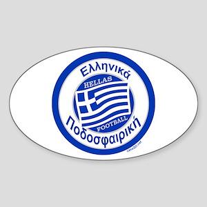 Greece Hellas Soccer/Football Sticker (Oval)